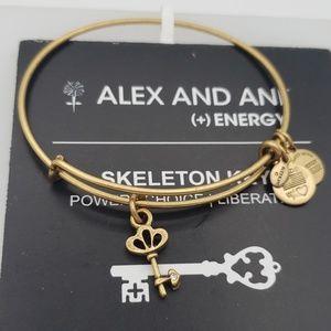 NWT Alex and Ani Skeleton Key RG